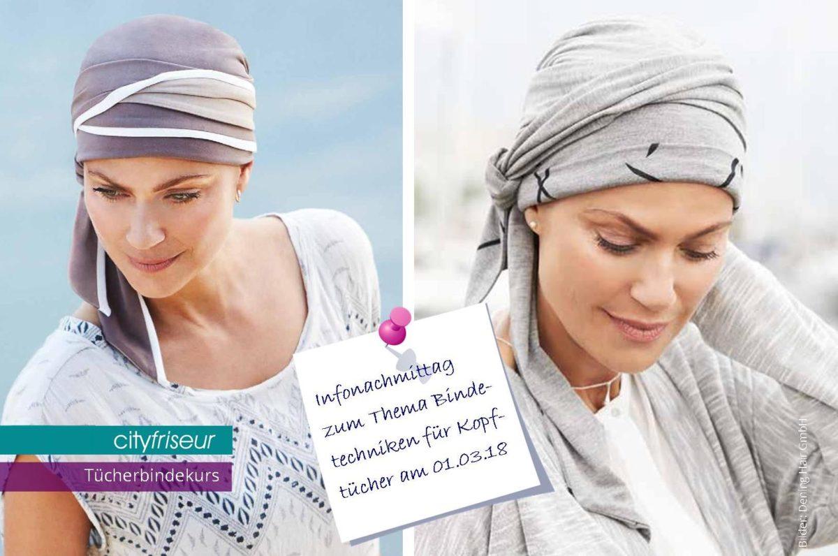 Bindetechniken für Tücher und Schals im Brustzentrum in Weiden